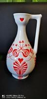 Zsolnay kancsó váza 28cm nyomott mintás