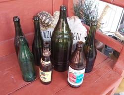 7db sörösüveg sörös üveg, Kőbányai Világos Sör Kőbánya 1.45 literes sör, nosztalgia falusi dekoráció