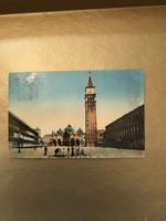 Venezia 1914 képeslap  bélyegzéssel javított címmel Triesztbe