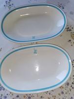 2 db Alföldi porcelán ovális kocsonyás tányér