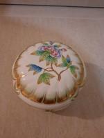 Herendi Viktória mintás porcelán barokk bonbonier
