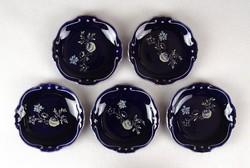1C230 Régi Jlmenau kobalt kék porcelán tálka készlet 8 cm