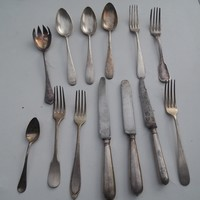 Antik evőeszköz készlet 13 darabos