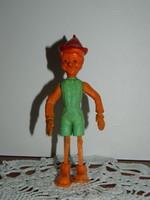 Retro magyar jelzett műanyag Pinokkió játék