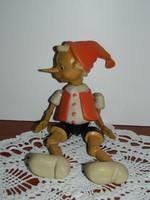 Retro  műanyag Pinokkió báb játék