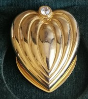 Gyönyörű mutatós szív formájú sál összefogó bross, sáltű, minőségi darab