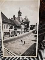 1942 Lauchheim, Adolf-Hitler-Strasse mit Marktplatz képeslap