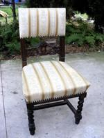 Különleges faragású, stabil szerkezetű ónémet szék, tömör fából