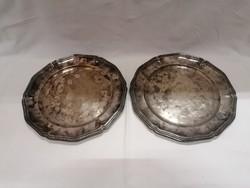 2 db ezüst tálca egyben 830 gramm