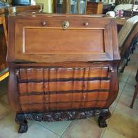 Trópusi fábólkészült szekreter, büró,íróasztal
