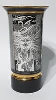 Hollóházi Szász Endre váza 26 cm