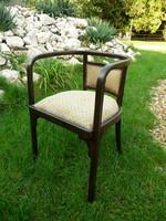 Antik, maximálisan stabil J&J Kohn (Thonet) karfás íróasztal szék, jó állapotú kárpittal