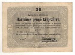 30 pengő ktajczárra 1849 z.rn. csillagos sorszám