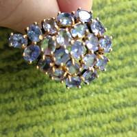 Tanzanit ezüst gyűrű