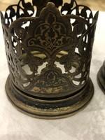 Antik Orosz Niellós Díszítésű Aranyozott Ezüst Teás Poharak 2db Eladó Vagy Csere Is
