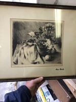 Kiss Teréz jelzéssel, vegyestechnika, 20 x 28 cm-es nagyságú