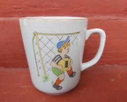 Ritka focis, figurás Zsolnay bögre, Gyűjtői, nosztalgia darab