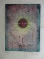 Paul Klee eredeti rézkarc!