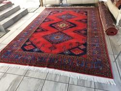 Hatalmas azeri 2,5x3,75 kézi csomózású gyapjú perzsa szőnyeg KZM_237
