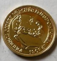 Aranyozott  színezüst 100 Korona  RR  UNC