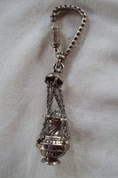 Régi,különleges ezüst kulcstartó,díszével