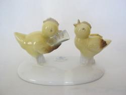 Metzler & Ortloff porcelán csibe pár éneklő csibék