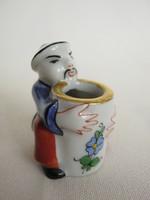 Herendi óherendi jelzésű porcelán mini mandarin figura
