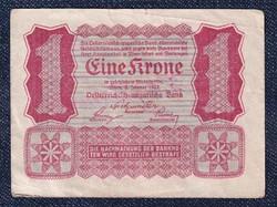Ausztria 1 Korona 1922 Helmut Freulich felülbélyegzéssel (id10731)