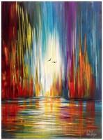 Való Ibolya Október fényei c. festménye