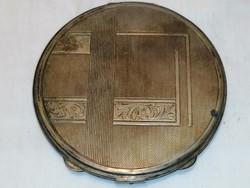 Nagy ezüst púderes szelence 10,5 cm