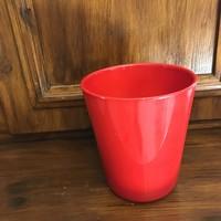 Német piros kerámia kaspó 15 cm magas 13.5 cm átmérő