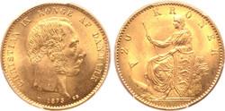 Dánia, Királyság 1873  Christian IX AV 20 Korona 8.96g, 23mm,