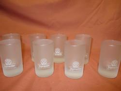 8 db Jagermeifter üveg pohár, likőrös pohár