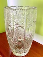 Lenyűgöző nagy ólomkristály váza