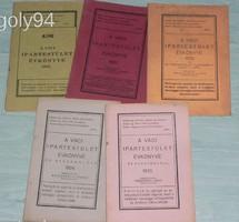 A VÁCI IPARTESTÜLET ÉVKÖNYVE 1931 , 1932 , 1933 , 1934 , 1935 - ÖT ÉVFOLYAM