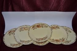 Ritka dekoros Zsolnay 6 db sütis tányér  ( 16,6 cm )  ( DBZ 00120 )