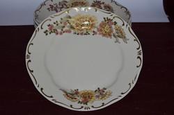 Ritka dekoros Zsolnay 6 db tányér 01  ( 3,2 x 24 cm ) ( DBZ 00120 )