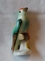 Herendi mini csodálatos porcelán madárka (csőrén apró lepattanás) kézzel festett