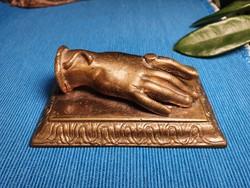 Antik Ékszerészbolt - Kirakati Gyűrűt Reklámozó Bronz Kézfej