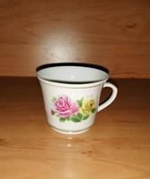 Kínai rózsás porcelán kávéscsésze  (9/d)