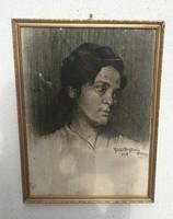 Kucharikné Haller Stefánia, ritkán előforduló híres jegyzett. Híres festő, grafikus!  alkotás!