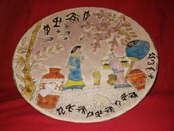 Schütz Cilli ritka kínai mintás fali tányér