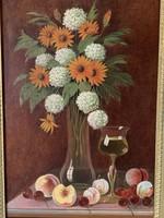 Olaj-vászon festmény szignóval