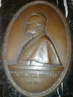 Prohászka Ottokár - csodás réz dombormű, márvány talapzaton - 1 forintról, garanciával.
