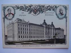 Régi képeslap 1848-1908 jubileumi üdvözlőlap Ferenc József