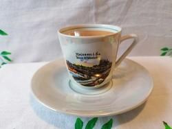 Meissen souvenir kávés csésze CW & Co DEESBACH porcelán 1870 - 1949