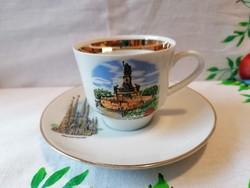 Német porcelán kávés csésze + alj