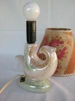 Iparművész kerámia madár lámpa