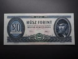 20 Ft 1975 bankjegy - Régi, retró papír kék húsz forintos papírpénz eladó