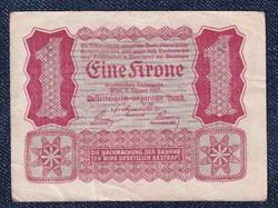 Ausztria 1 Korona 1922 Helmut Freulich felülbélyegzéssel (id10734)